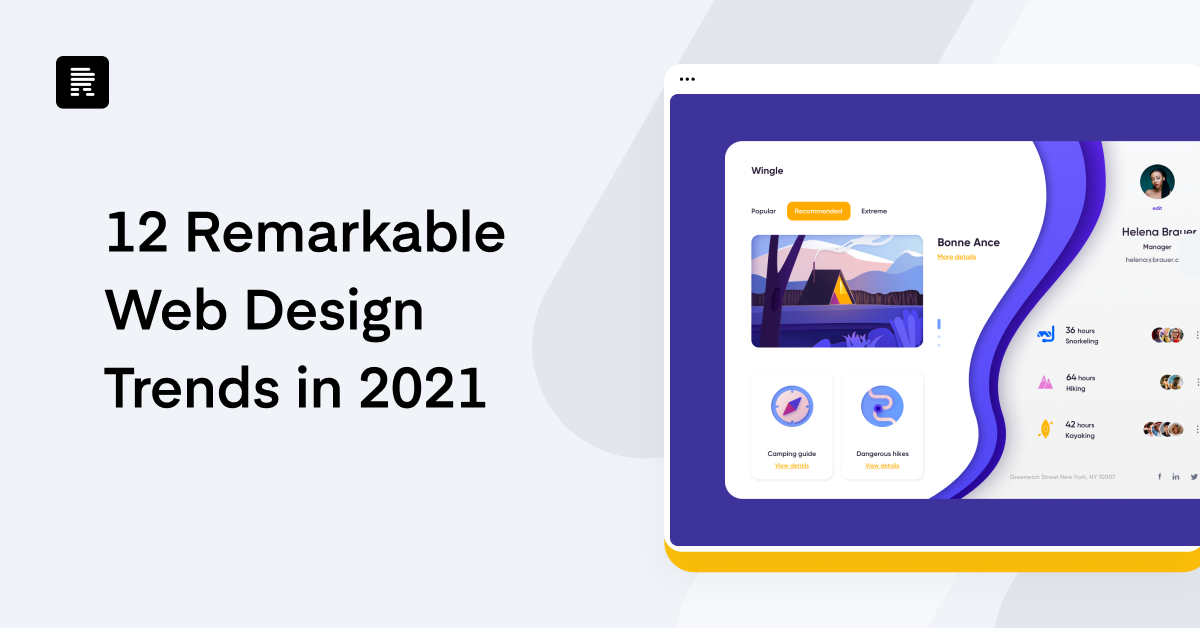 12 Remarkable Web Design Trends in 2021